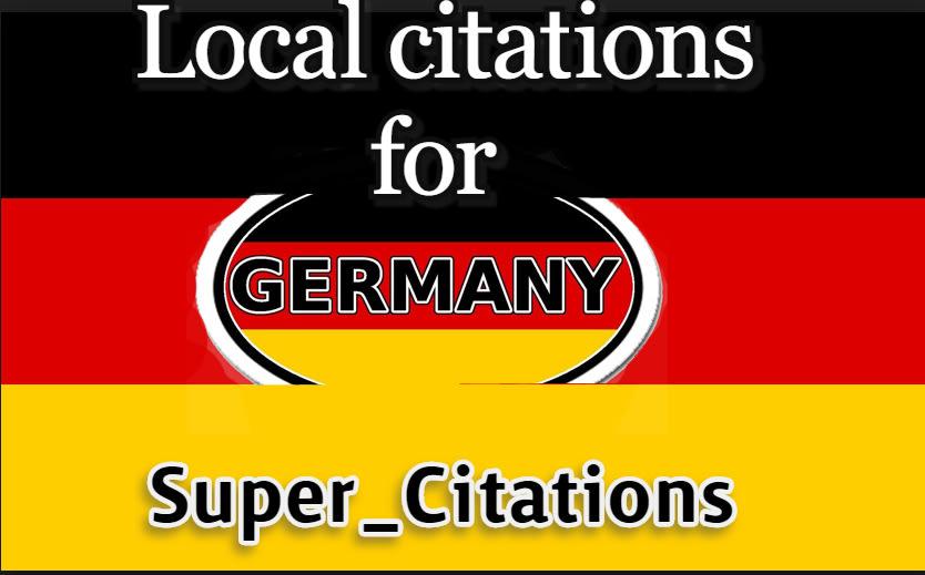 I will create 200 germany local citations