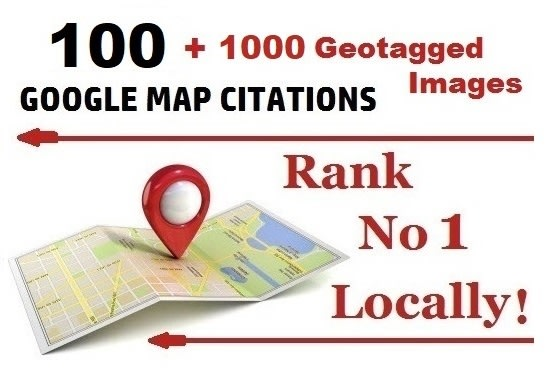 I will map citations with geotagged images no1 local SEO rank