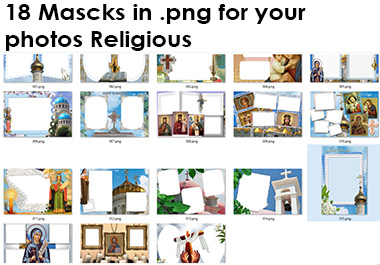 18 masks in. png for your religious photos
