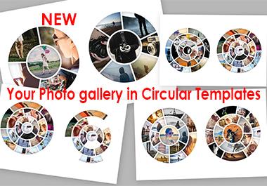 Circular Photo Template for Photoshop