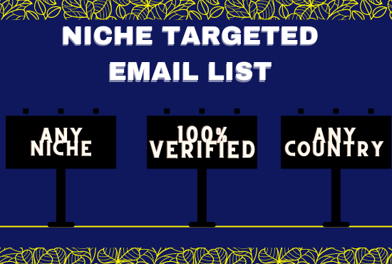 I will provide USA 5k verified niche targeted email list