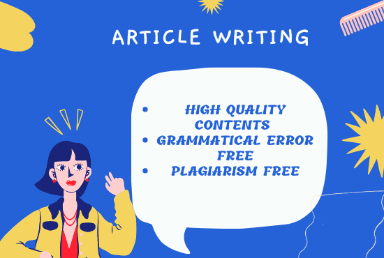 I will write unique content for your article or products