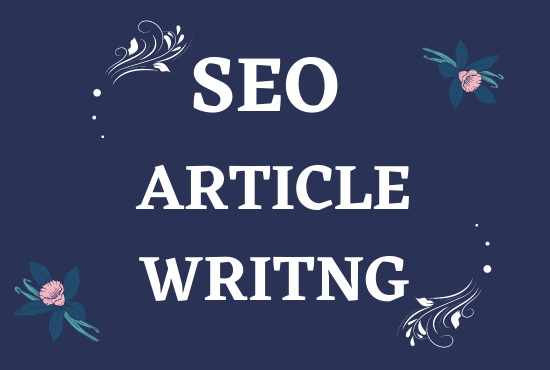 I will write SEO friendly article or any kind of product description.