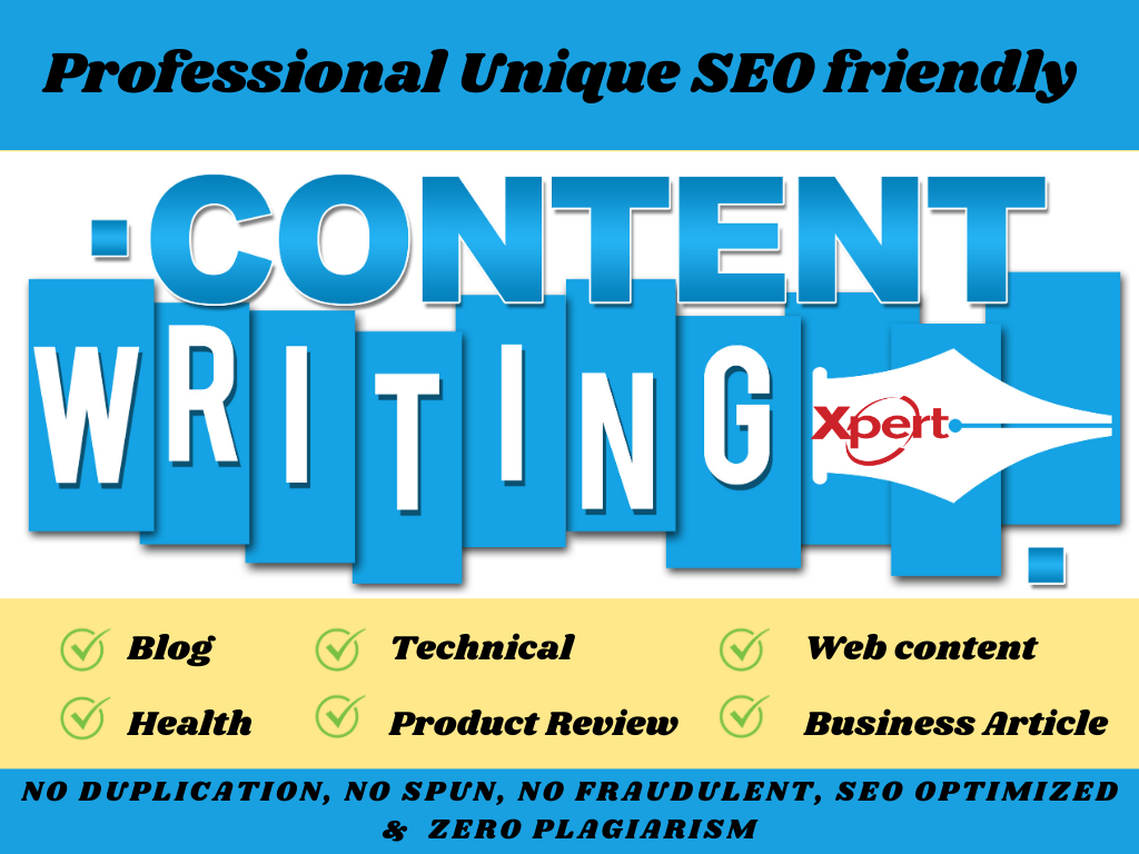 Write 1500 words SEO friendly content like blog post and website article