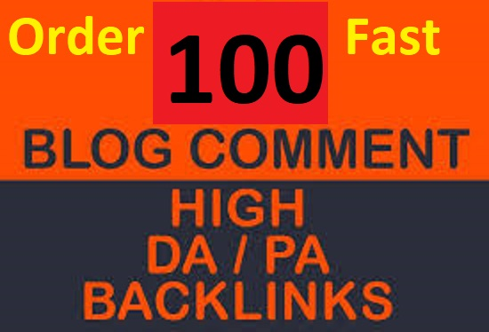 I will do 100 Niche relevant high authority dofollow Blog Comments seo backlinks