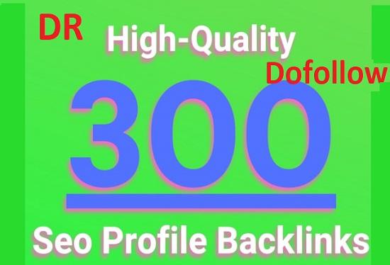 I will provide 300 high authority profily backlinks high DA DR TF dofollow seo backlinks