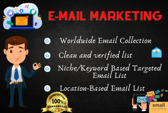 I will build 5000 niche targeted email list and collect real audience active email