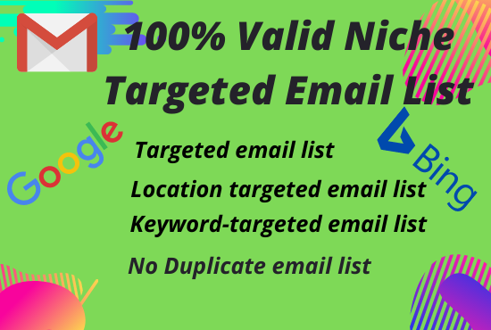 I will Collect 5000 Niche Targeted Email list for your Business.