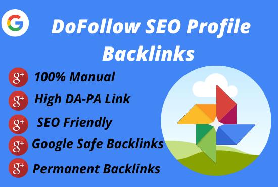 I will do 70 SEO manual profile backlinks on high-quality authority websites.