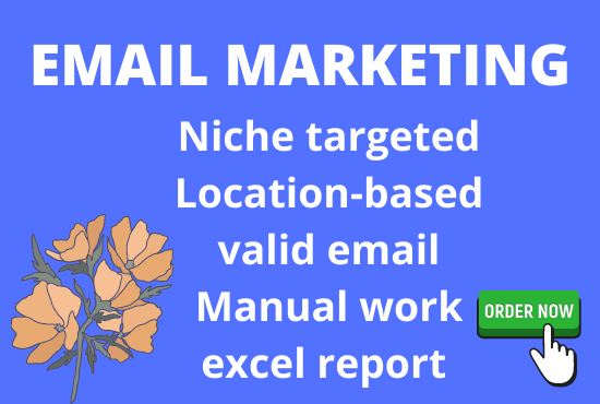 I will collect 5k niche targeted email for your email marketing