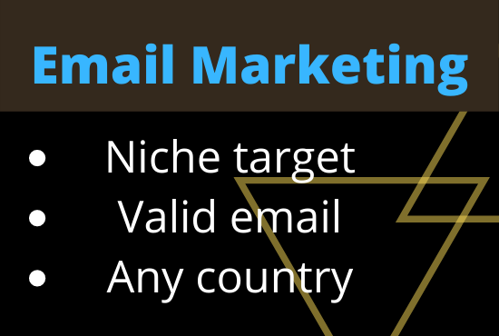 I will create 4k niche targeted email list for your email marketing