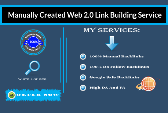 I will create 50 high-authority web2.0 backlinks for your website