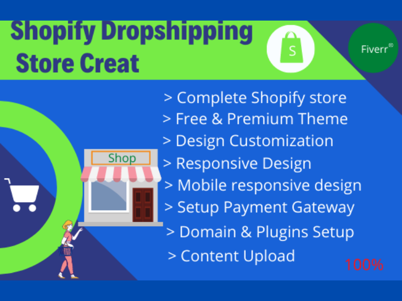 I will build a complete Shopify store for your ecommerce business.