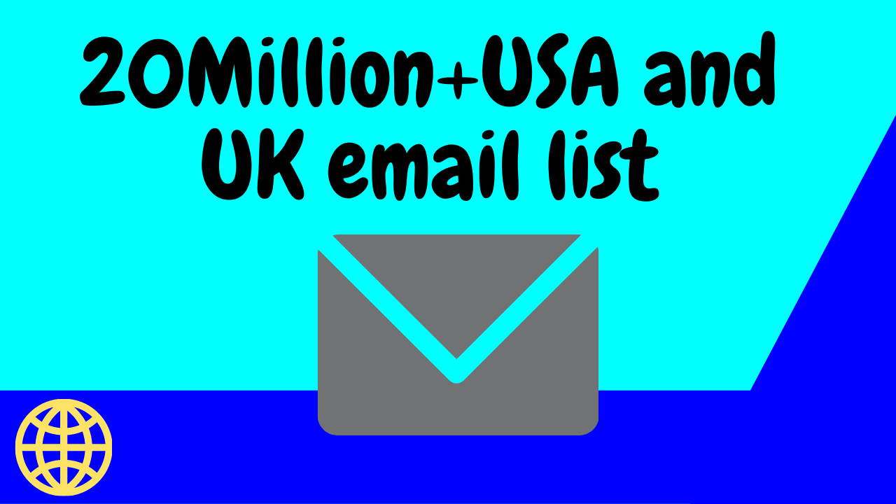 I will give you 20Million Email list from USA companies