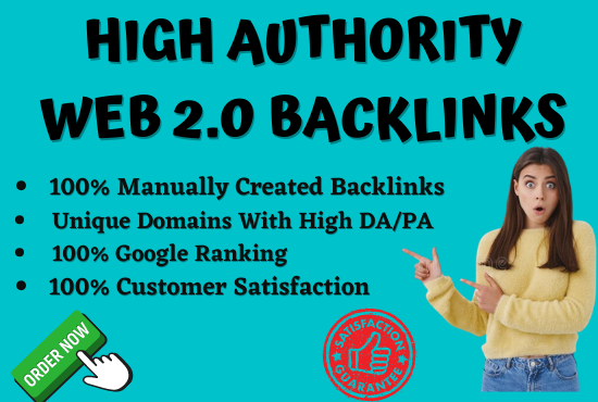 I will build 20 plus high authority Web 2.0 backlinks