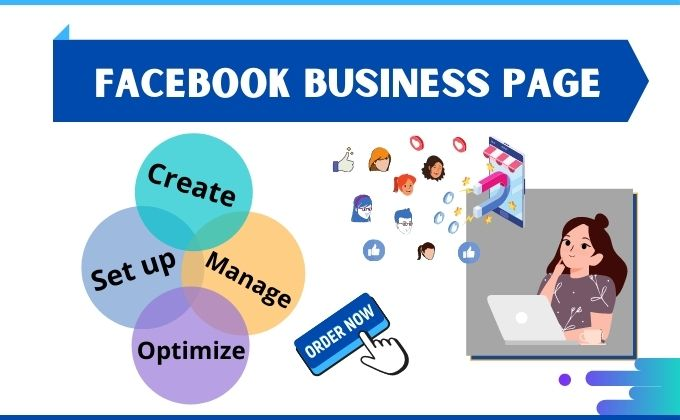 I will do facebook page creation and page setup for your business