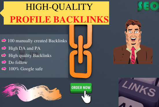 Manually create 70 SEO profile backlinks on high authority websites