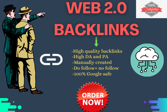 I will manually create 50 high authority Web 2.0 backlinks for your website