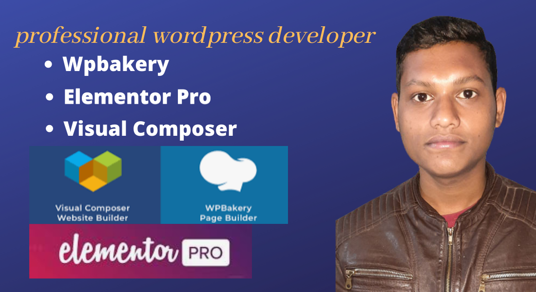 I will WordPress website design by elementor pro and wpbakery