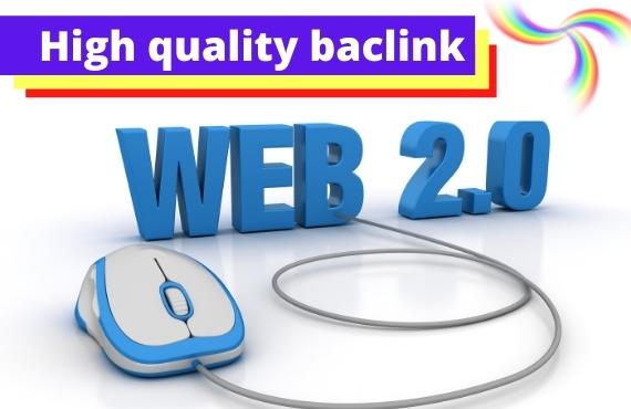 I will do build web 2 0 authority backline,  dofollow backlinks