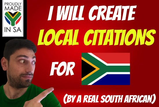 I will create south african citations by a real south african