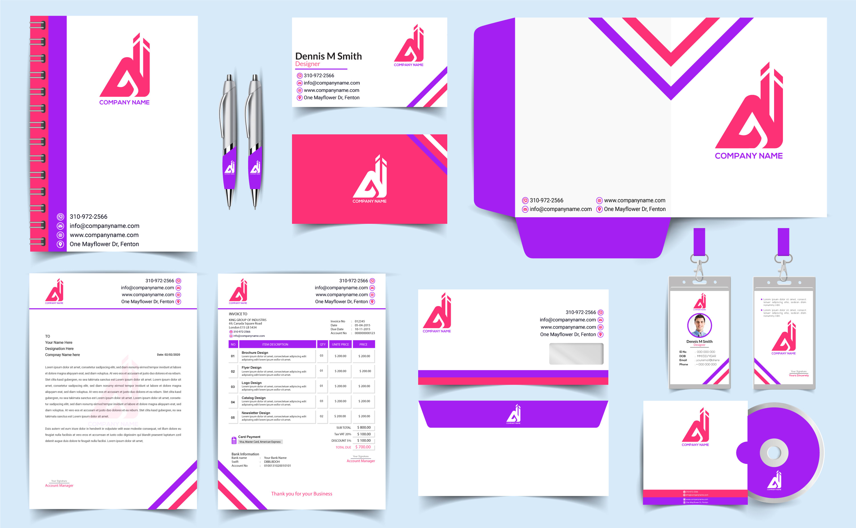 I will create a business card,  letterhead,  stationery design