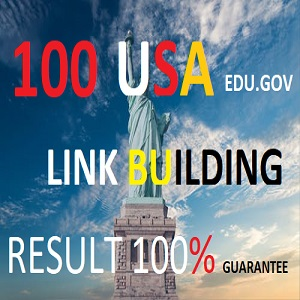 I will create 100 high quality edu gov USA dofollow backlinks / ranking your website