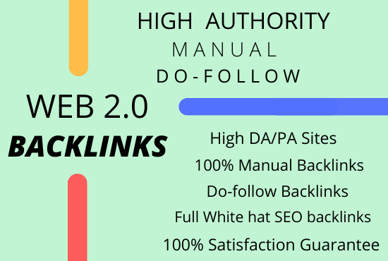 I will build 50 manual high authority Web 2.0 Backlinks