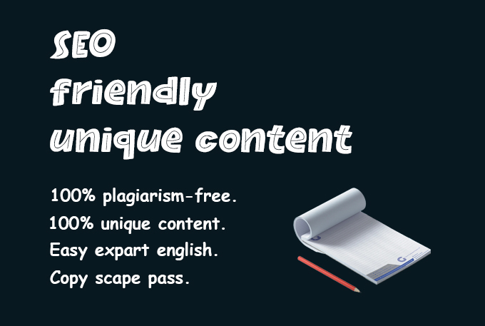 I will write an engaging SEO optimized blog post or website content,  1500 Words