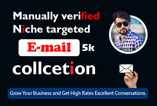 I will collect 5000 niche targeted verified active bulk Email list
