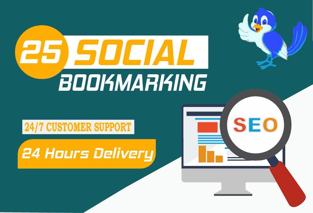 I will do 25 social bookmarking
