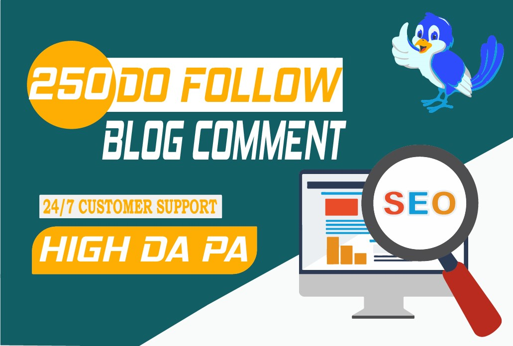 Create manually 250 Dofollow blog comment backlinks Buy 3 and GET 1 FREE