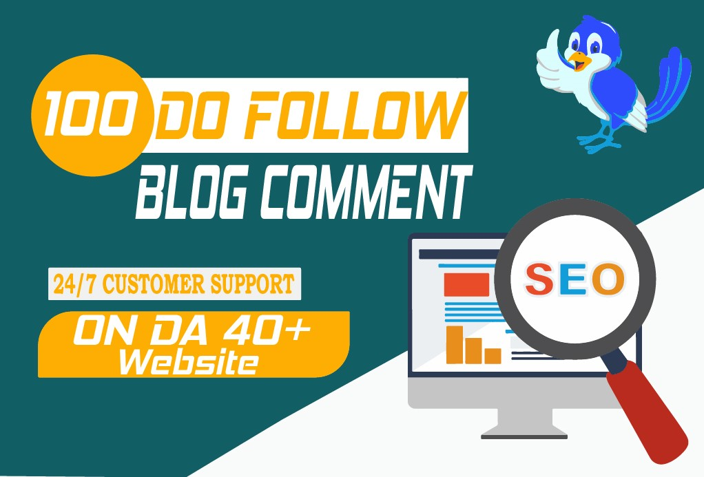 I will do 100 Dofollow blog comments on Da 40+ websites
