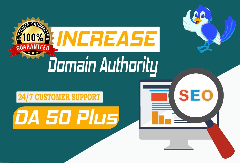I will increase domain authority Moz Da with high quality backlinks