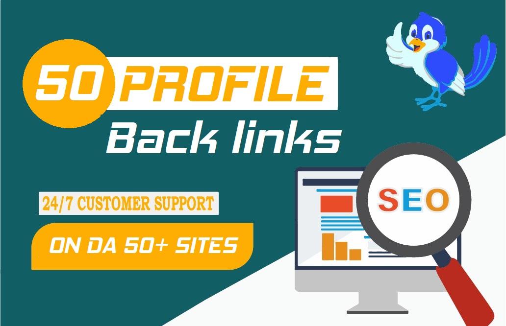 I will Do 50 high quality profiles backlinks