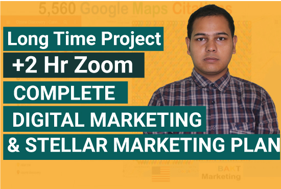 I will do complete digital marketing and stellar marketing plan