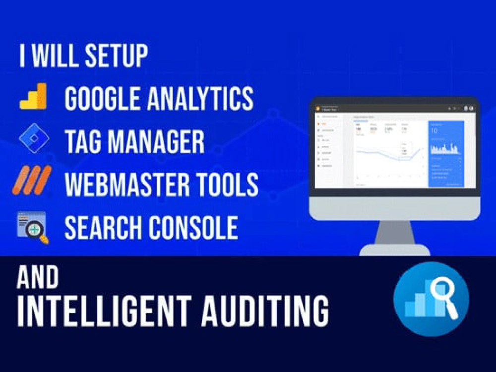set up google analytics 4,  tag manager and search console