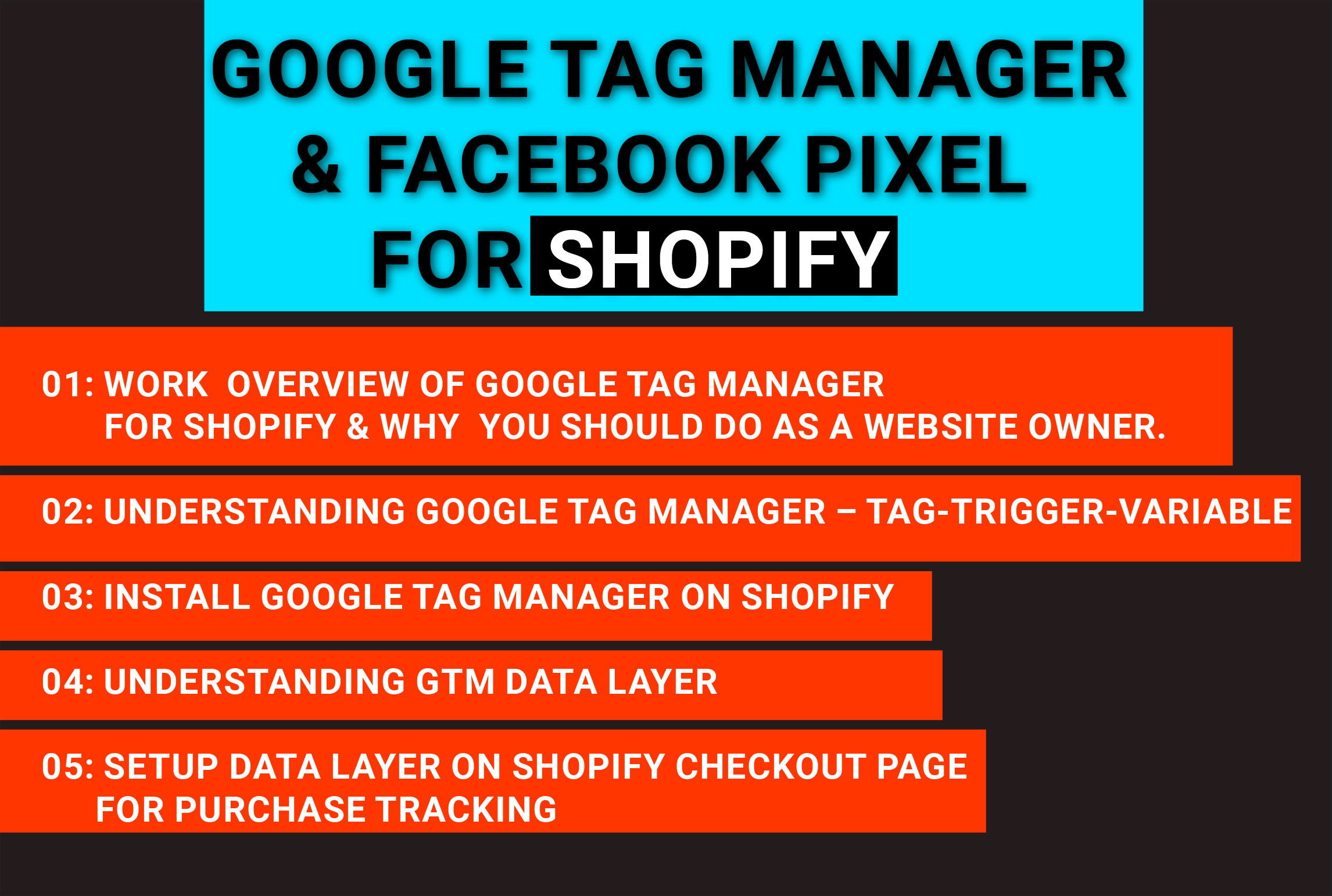 google tag manager and facebook pixel for shopify
