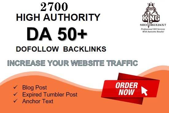 I will build 2700 high authority dofollow SEO backlinks service for top google rankings