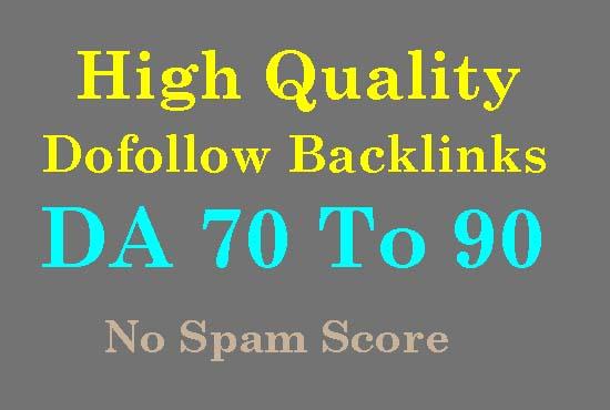 I will provides 1500 high authority da 70 to 90 SEO dofollow backlinks