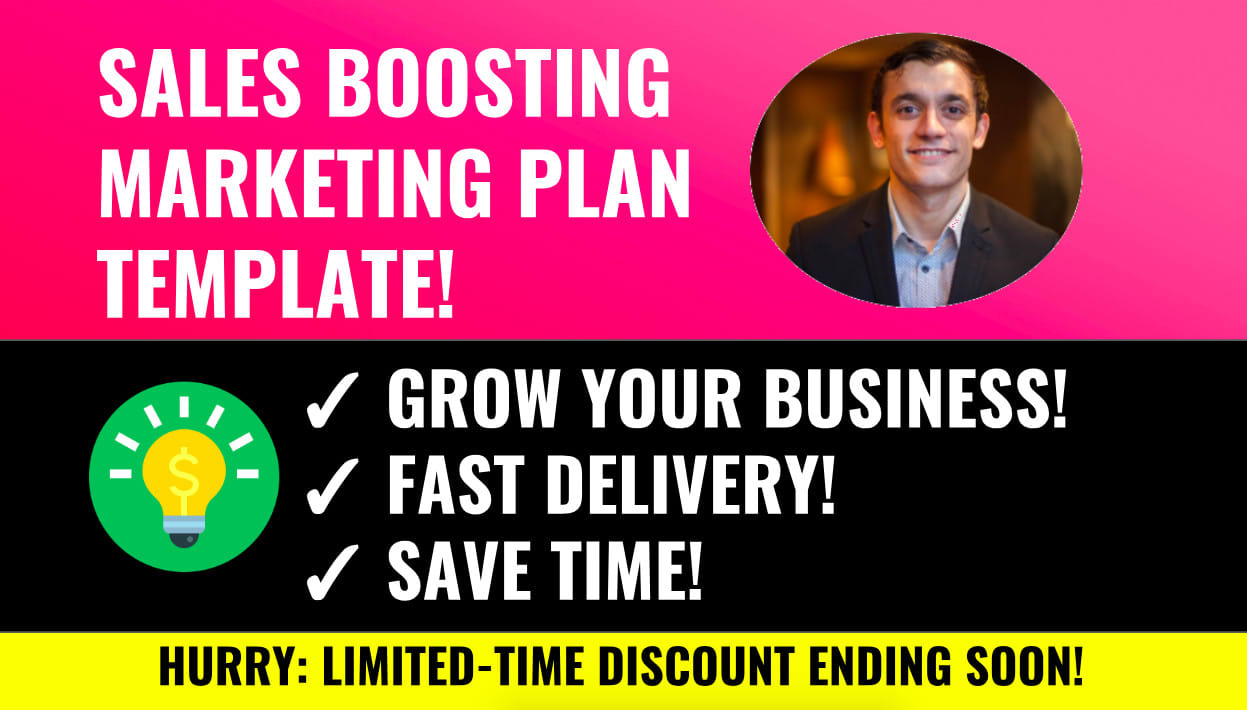 I will send an incredible marketing plan template