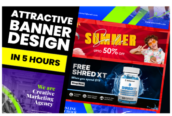 I will design creative web banners,  social media banner and post