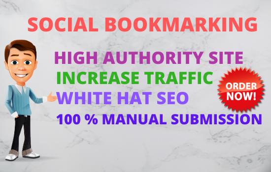 I will do 30 social bookmarking to create dofollow SEO backlinks for google top ranking