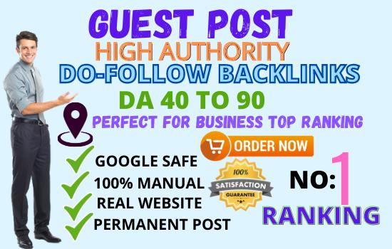 Write and publish 20 Do-Follow Guest Post 20 websites unique article DA 80+