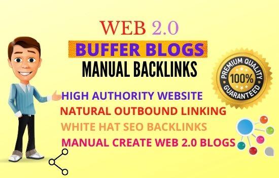 35 Web2.0 High Authority Permanent Contextual Backlinks unique link building