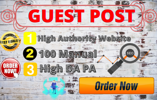 20 Guest Post unique article high Authority website Permanent Backlinks