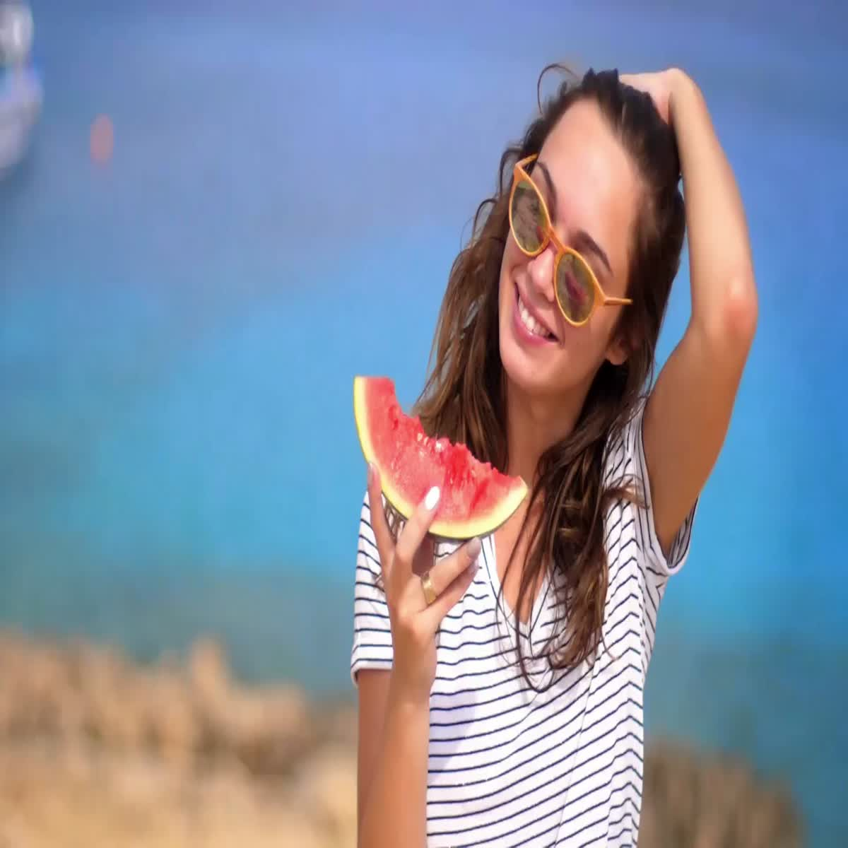 I will create a Sweet Girl Eat & smiling video ad for Facebook or Instagram