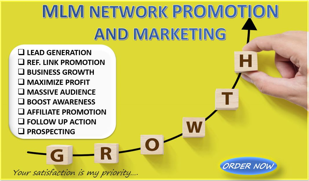 I will do mlm network marketing promotion to grow traffic and leads