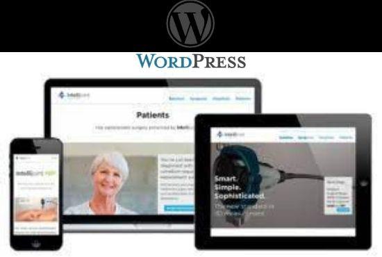 I will create full responsive wordpress website or wordpress design