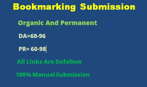 50 Bookmarking submission backlink on HQ sites as link building in off page seo manually